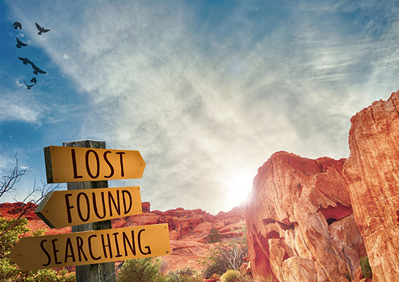 lost found and searching
