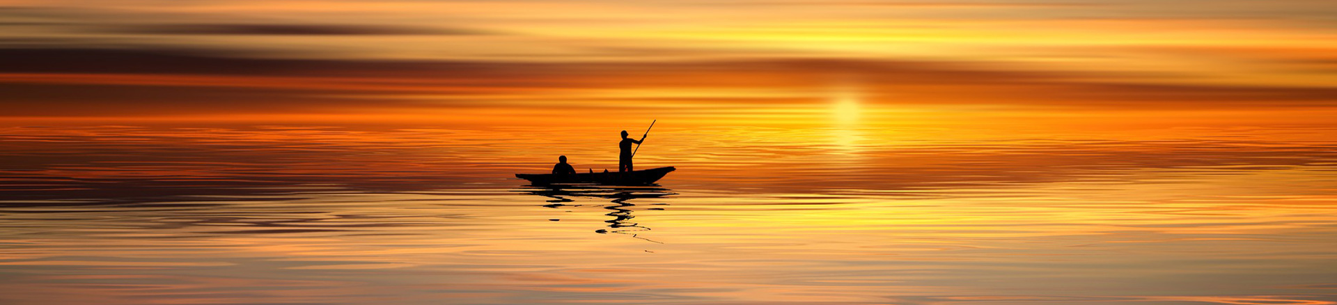 life coaching and support banner sunset boat